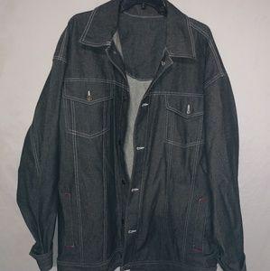 NYTK Mens Black Jean Jacket Sz XXL